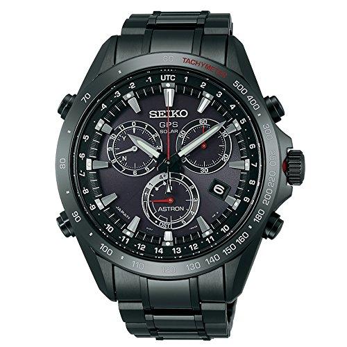 Seiko Astron Solar GPS Black Dial SS Chronograph Quartz Men's Watch SSE031