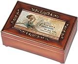 Cottage Garden Aunt Woodgrain Petite Rose Music Box / Jewelry Box Plays Amazing Grace