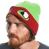 TMNT Raphael Reversable Beanie With Ski Mask (Red/Green)
