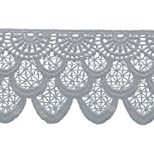 Decorative Trimmings Cross Hatch Edge Venice Lace Trim 2-3/8X5yd-White