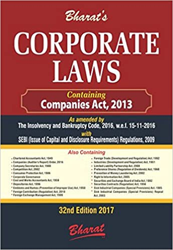 Corporate Law - 32nd Edition  – 2017 -by Bharat Law House