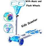 Dlittles Four Wheel Swing Scooter Wheel Shake Scooty LADY BIRD With Lights And Music