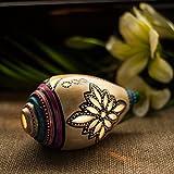 ExclusiveLane Terracotta Handpainted Shankh Shaped Table Tea Light Holder - T Light Holder  Candle Holder  Gift...