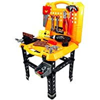 Multi Function 73 Piece Childrens Kids Pretend Play Toy Work Shop Tool Set W/ Battery Operated Toy Drill, Tools...