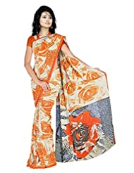 Anand Sarees Faux Georgette Synthetic Print Saree - B013X04QTE