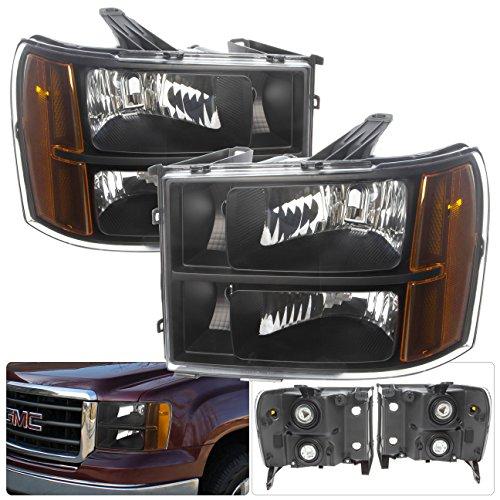 GMC Sierra Pickup Truck 1500 2500 3500 HD Blacking Housing Amber Reflectors Corner Signals Clear Lens