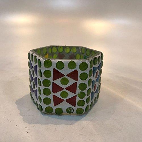 Dlite Crafts Multicolor Polka Design Home Decorative Votive Candle Holder, Set Of 2 PCs - B06XYJW3GD