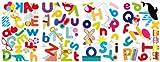 Whimsical Alphabet Decorative Peel & Stick Wall Art Sticker Decals