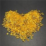 1000pcs 4.5mm Table Crystal Diamond Acrylic Crystals Diamonds Wedding Party Decoration-Gold
