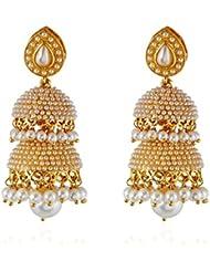 Bollywood Inspired Fancy Party Wear Traditional Jewellry Two Tier Jhumki/Jhumka Earrings For Girls & Women By...