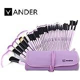 32pcs Vander Professional Makeup Brushes Premium Cosmetics Brushes Set Synthetic Kabuki Foundation Blending Blush...
