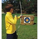 Junior Archery Set, 39 Inch Fiberglass Bow, 3 18 Inch Arrows, 4 Color Targets, Boxed