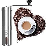 UMIGAL Manuelle Kaffeemühle Hand Coffee Grinder Espressomühle mit Keramikmahlwerk, Edelstahl Kaffeemühle Espressomühle für Kaffeebohnen