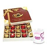Valentine Chocholik Belgium Chocolates - Graceful Gesture Of Wrapped Chocolates With Love Mug