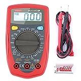 EtekCity Measure Up - Multímetro digital con retroiluminación LCD (medir AC/DC corriente, voltaje, resistencia, diodos), color rojo y gris