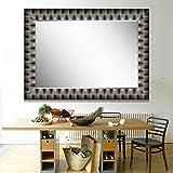 Elegant Arts & Frames Black And Silver Wall Decorative Wooden Mirror 24 Inch X 36 Inch