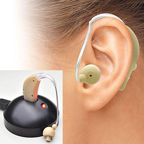 聞こえにくいと感じている方 補聴器タイプ集音器 左右両用 耳かけタイプ集音器 よく聞こえるから会話もスムーズ イヤホンキャップ大小3種類 /快音くんアルファ