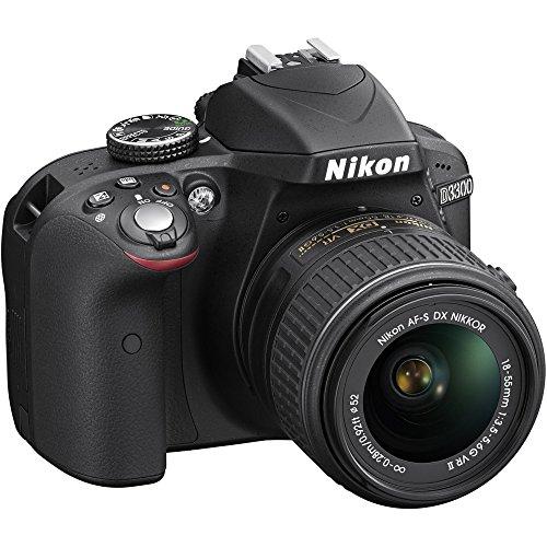 Nikon D3300 24.2 MP CMOS Digital SLR with AF-S DX NIKKOR 18-55mm f/3.5-5.6G VR II Zoom Lens (Black) (Certified Refurbished)