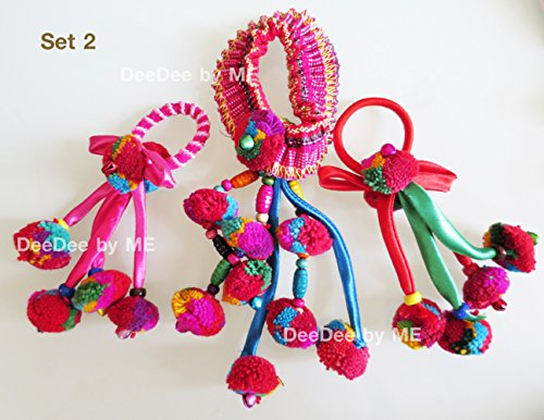 Set 2 - Elastic Band Hair Tie Thailand Hand Made. Thailand Premium Product Selective By Deedee By Me.