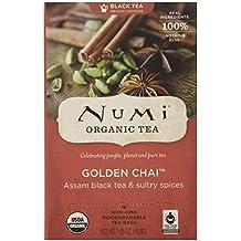 Numi Organic Tea Golden Chai Full Leaf Black Tea 18-Count Tea Bag
