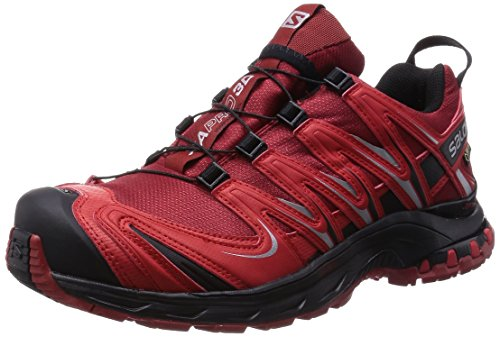 Salomon Xa Pro 3D Gtx - Zapatos para hombre, Flea/Bright Red/Black, 42
