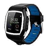 Diggro GT68 - Reloj Pulsera Inteligente GSM Smartwatch (Cámara, Ritmo Cardíaco, SOS, GPS, Llamada Recordatorio, Monitor de Sueño, Compatible Con Android, IOS) Azul