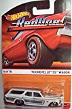 2015 Hot Wheels Redline '70 Chevelle SS Wagon 4 of 18 White with Blue & Red Racing Stripes