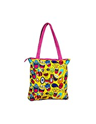 The Crazy Me Quirk Up Doodle Women's Tote Bag Multicolour - TOTE120
