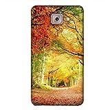 PrintVisa Designer Back Case Cover For Samsung Galaxy J7 Max :: Galaxy J7 Max :: Samsung Galaxy J7 Max G615F (Orange Yellow Brown Village Natural)