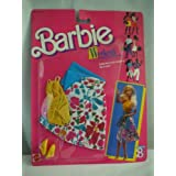 Barbie Weekend Collection Sleeveless Yellow Top, White Skirt With Floral Print And Turquoise Waist Sash (1988)