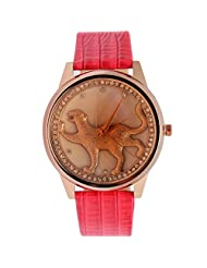 Super Drool Analogue Beige Dial Women's Watch -ST2352_WT_DINOSOUR_RED