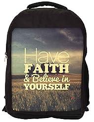 Snoogg Believe In Yourself Backpack Rucksack School Travel Unisex Casual Canvas Bag Bookbag Satchel - B0146G5BWA