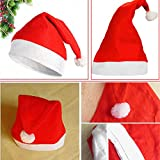 Pikimania Christmas Red And White Santa Unisex Cap For Girls/boys.Caps For Kids (Pack Of 1)