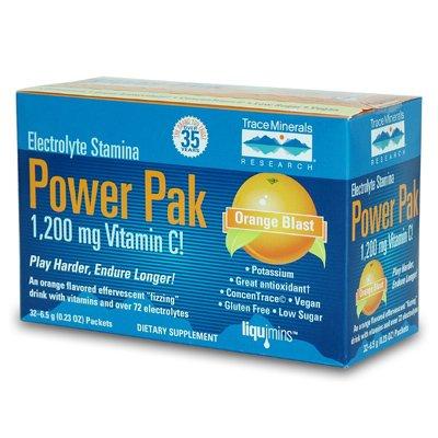 Trace Minerals Electrolyte Power Pak Orange Blast, 32 pk