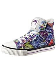 British Knights Women's Dee Blue Purple Paint Splash Sneakers