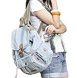 SAIERLONG MsBP Women's And Girl's Backpack School Bag Travel Bag blue jean
