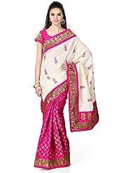 Shefali Fabrics Women's Multi Color Bhagalpuri Cotton Printed Saree (3207,Multi,Free Size)