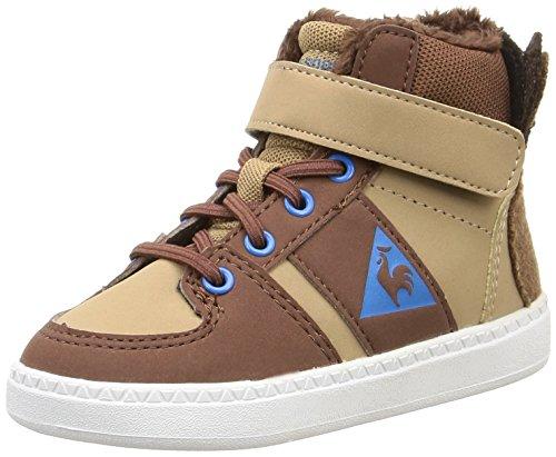 Le Coq Sportif Rebond Mid Inf Animal Face - Zapatos primeros pasos de material sintético para niña marrón Marron (Tiger's...