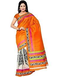 Glory Sarees Women's Bhagalpuri Art Silk Saree With Blous