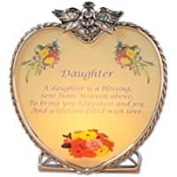 Daughter Candle Holder Heart Shaped Glass Candle Holder With An Inspiring Daughter Saying Printed On Front Daughter...