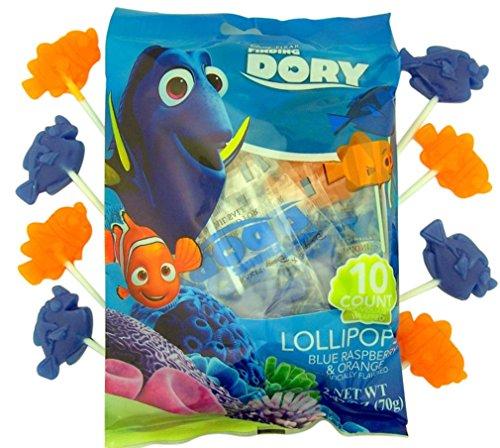 Disney Finding Dory Lollipop Suckers, 10 Count Bag