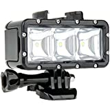 WiserElecton Underwater 30m Waterproof High Power Dimmable 3 Mold LED Video POV Flash Fill Light Night SOS Flash Light High Light For GoPro Hero 4 3+ 3 2 1 Action Camera Bundle