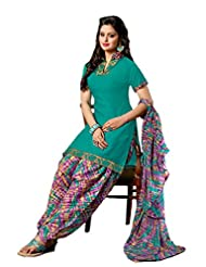 Green Occasion Wear Dress Material