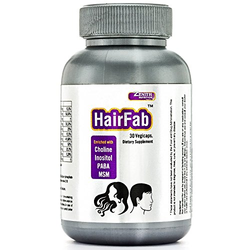 Zenith Nutrition HairFab With Hair Vitamins (Biotin) & Minerals - 30 Veg Capsules