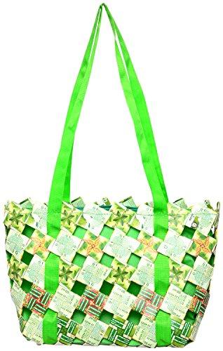 Magenta Blues Tetra 8 Ltrs Green Reusable Shopper Bags