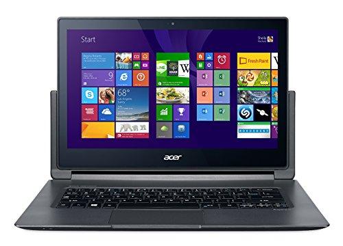 Acer Aspire R13 R7-371T-57P3 - Ordenador portátil (Híbrido (2-en-1), Touchpad, Windows 8.1, Polímero de litio, 64-bit, Gris)