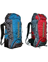 Gleam 2209 Mountain Rucksack / Hiking / Trekking Bag / Backpack 75 Ltrs ( SKY BLUE & RED Set Of 2 Bags ) With...