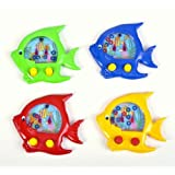"""4 ~ Handheld Water Ring Games ~ Fish Theme ~ Approx. 5"""" ~ New ~ Fish Water Toy, Sea Life Party Favor"""