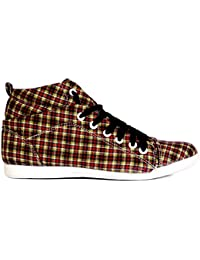 Saner Checkered Women Casual Ankle Boots