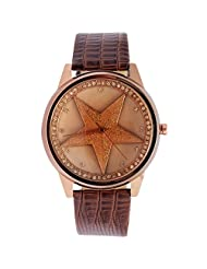 Super Drool Analogue Beige Dial Women's Watch -ST2351_WT_STAR_BROWN